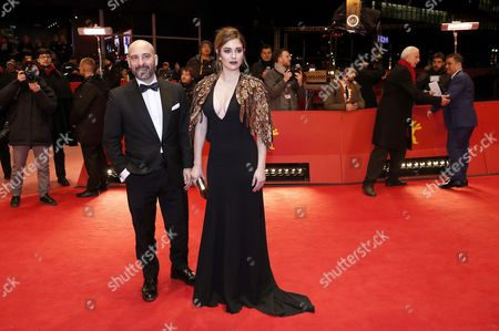 Spanish actress Blanca Suarez (L) and Spanish actor Jaime Ordonez arrive for the premiere of 'El Bar' (The Bar) during the 67th annual Berlin Film Festival, in Berlin, Germany, 15 February 2017. The movie is presented in the Official Competition at the Berlinale that runs from 09 to 19 February.
