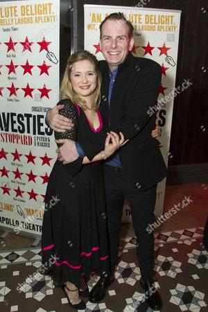 Tim Wallers (Bennett) and Amy Morgan (Gwendolen)