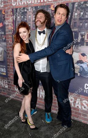 Kate Gorney, TJ Miller and Pete Holmes