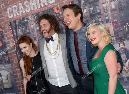 Kate Gorney, TJ Miller, Pete Holmes and Valerie Chaney