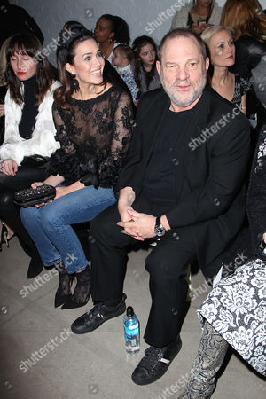 Mandy Moore and Harvey Weinstein in the front row