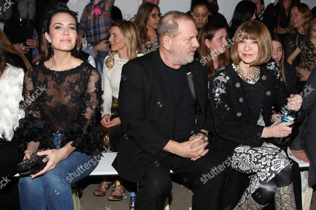 Mandy Moore, Harvey Weinstein and Anna Wintour in the front row