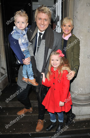 Stock Picture of Jonathan Ansell, Debbie King and their kids Dexter Sol Ansell and Sienna Valentine Ansell