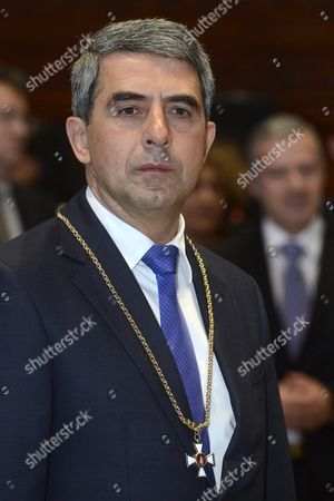 Bulgarian President Rosen Plevneliev Speaks After He was Awarded with the Grand Cross of the Hungarian Order of Merit with Chain and Star with Golden Beams by Hungarian Prime Minister Viktor Orban (not Seen) in the Parliament Building in Budapest Hungary 10 November 2016 President Plevneliev Has Been Awarded For His Efforts to Help Deepen Hungarian-bulgarian Relations and to Work Towards the Stability of the Region and Cooperation with Europe Hungary Budapest