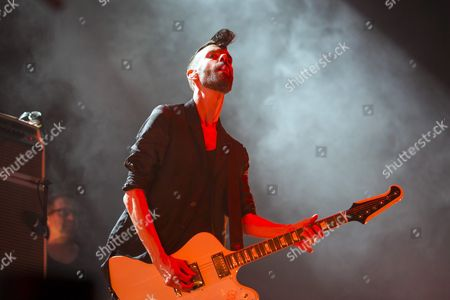 Guitarist Stefan Olsdal Performs with British Band Placebo in Papp Laszlo Sports Arena in Budapest Hungary 11 November 2016 Hungary Budapest