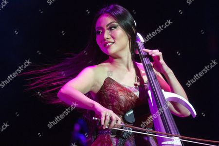 Chinese Cellist Tina Guo Performs During a Concert of the 'Vivaldianno - City of Mirrors World Tour' at the Papp Laszlo Budapest Sports Arena in Budapest Hungary 13 November 2016 the Concert Featured Works of Antonio Vivaldi in a Performance of Baroque Music Combined with a Modern Sound Hungary Budapest
