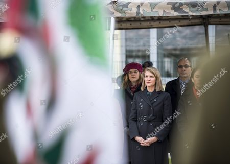 United States Ambassador to Hungary Colleen Bell (2-l) Looks on During the Inauguration Ceremony of Natos New Office Building in Nagysandor Jozsef Barracks of the Hungarian Army in Szekesfehervar 63 Kms Southwest of Budapest Hungary 18 November 2016 Hungary Szekesfehervar