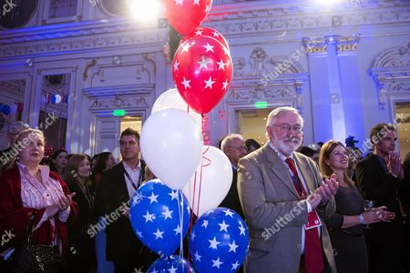Participants Applaud the Speech of Us Ambassador to Hungary Colleen Bell (unseen) During the Election Night Party at the Us Embassy in Budapest Hungary 08 November 2016 Hungary Budapest