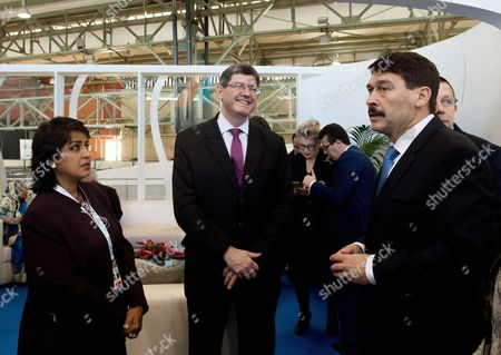 (l-r) Mauritian President Ameenah Gurib-fakim World Bank Group Chief Financial Officer Joaquim Levy and Hungarian President Janos Ader Attend For the Opening Ceremony of the Budapest Water Summit 2016 in Millenaris Cultural and Convention Centre in Budapest Hungary 28 November 2016 the Summit Which Runs From 28 to 30 November Will Be Attended by Some 1800 Participants and 600 Sustainable Water Solutions Expo Visitors From 117 Countries the Bws 2016 Will Serve As a Platform For Discussion For Heads of State and Government Ministers High-level Representatives of International Organisations Members of the Scientific Business and Financial Sectors and Representatives of Civil Society From All Over the World Hungary Budapest