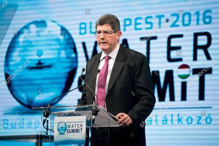 World Bank Group Chief Financial Officer Joaquim Levy Speaks During the Opening Ceremony of the Budapest Water Summit 2016 in Millenaris Cultural and Convention Centre in Budapest Hungary 28 November 2016 the Summit Which Runs From 28 to 30 November Will Be Attended by Some 1800 Participants Including Heads of States and Governments Ministers High-level Representatives of International Organisations and Members of the Scientific Business and Financial Sectors As Well As 600 Sustainable Water Solutions Expo Visitors From 117 Countries Bws 2016 Serves As a Platform For the Discussion of the Key Issues Regarding Potable Water Sanitation and Sustainable Water Management Hungary Budapest