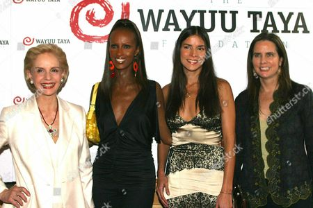 Wayuu Taya Foundation Founder Venezuelan Actress Patricia Velasquez (2nd R) and Sudan-born Actress Iman (2nd L) Host the Wayuu Taya Foundation Benefit Honouring Designer Carolina Herrera (l) and Ford Models Agency Manager Katie Ford in New York on Monday 23 June 2003 the Foundation Provides 'Essential Aid and Support to the Indigenous People Struggling to Survive in Latin America' Epa Photo/efe/miguel Rajmil United States New York