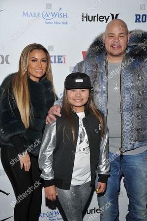 Stock Picture of Lorena Cartagena, Azariah Cartagena and Fat Joe