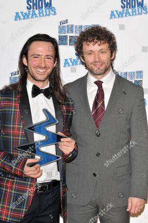 Aaron Sillis, winner (Dance) and Michael Sheen