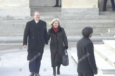 Stock Picture of Al Gore and Tipper Gore