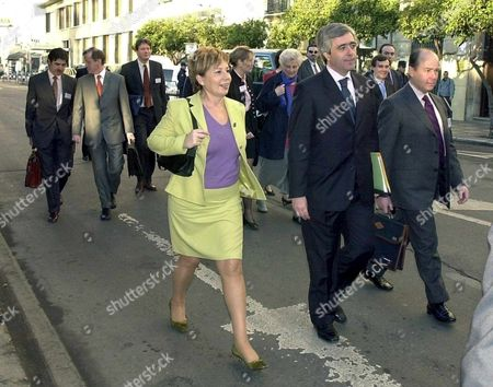 Ma-03 - 20020208 - Malaga Spain : Spain's Health Minister Celia Villalobos and Some of Ministers Go For a Walk on the Way to the Eu Health Ministers Meeting 8 February 2002 in Malaga Southern of Spain the Meeting is About the Therapeutical Use of Cells and the Tissues Epa Photo Efe/rafael Diaz/gb-bw Spain Malaga