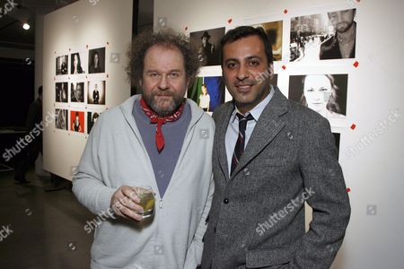 Mike Figgis and MILK Gallery owner Mazdack Rassi