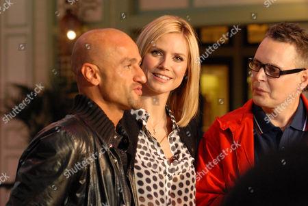 Peyman Amin, Heidi Klum and Rolf Scheider