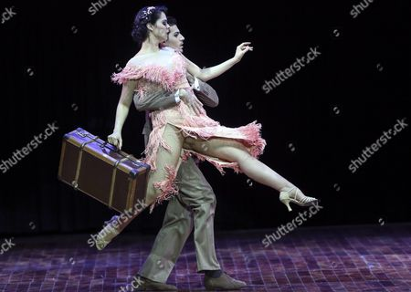 Argentine Juan Pablo Bullich and Rocio Garcia Compete in the Stage Tango Category Final During the Tango Dance World Cup 2015 in Buenos Aires Argentina 27 August 2015 Around 700 Couples From 43 Countries Participate in the Event Argentina Buenos Aires