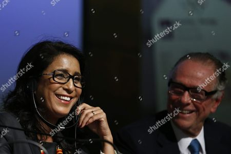 President of the International Olympic Committee (ioc) Coordination Committee of Rio 2016 Olympic Games Moroccan Former Athlete Nawal El Moutawakel (l) and President of Brazilian Olympic Committee (cob) Carlos Nuzman Attend a Press Conference at the Coordination Committee Headquarters in Rio De Janeiro Brazil 12 August 2015 Brazil Rio De Janeiro