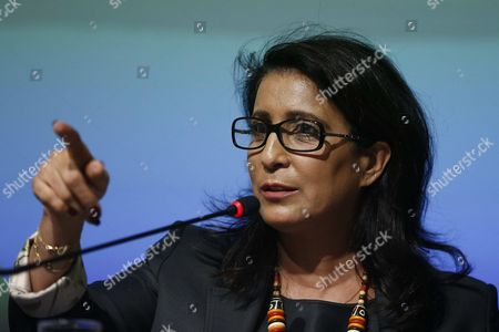 President of the International Olympic Committee (ioc) Coordination Committee of Rio 2016 Olympic Games Moroccan Former Athlete Nawal El Moutawakel Attends a Press Conference at the Coordination Committee Headquarters in Rio De Janeiro Brazil 12 August 2015 Brazil Rio De Janeiro