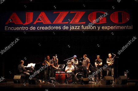 A Picture Made Available on 26 September 2015 Shows Us Musician Poncho Sanchez (c) Performing with His Latin Jazz Band at the 15th Edition of Ajazzgo Festival in Cali Colombia 25 September 2015 the Festival Runs Until 27 September Colombia Cali