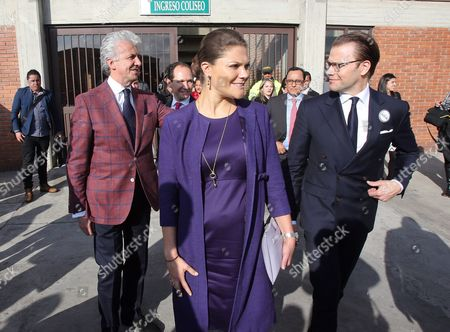 Crown Princess of Sweden Victoria (c) Seen with Her Husband Prince Daniel Westling (r) During a Two-day Official Visit in Bogota Colombia 22 October 2015 the Princess Arrived in the Colombian Capital From the City of Cartagena in the Framework of Her Official Three-day Visit to the Country with the Purpose to Strengthen Diplomatic Relations Between the Two Nations Which Began 140 Years Ago Colombia Bogotß