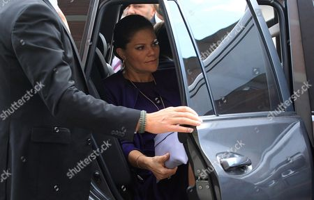 Crown Princess of Sweden Victoria Seen with Her Husband Prince Daniel Westling (out of Frame) During a Two-day Official Visit in Bogota Colombia 22 October 2015 the Princess Arrived in the Colombian Capital From the City of Cartagena in the Framework of Her Official Three-day Visit to the Country with the Purpose to Strengthen Diplomatic Relations Between the Two Nations Which Began 140 Years Ago Colombia Bogotß