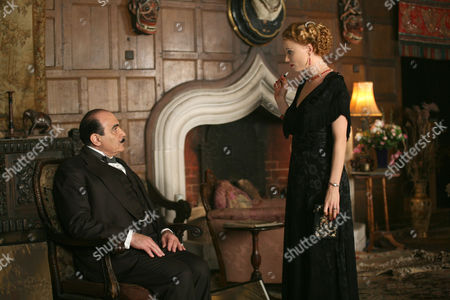 'Agatha Christie Poirot' - Mrs McGintys Dead - TV - 2008 - David Suchet and Mary Stockley.