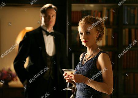 'Agatha Christie Poirot' - Mrs McGintys Dead - TV - 2008 - Paul Rhys and Mary Stockley.