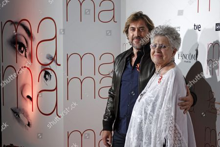 Spanish Actor Javier Bardem (l) and His Mother Actress Pilar Bardem (r) Arrive For the Premiere of 'Ma Ma' in Madrid Spain 09 September 2015 the Movie Opens in Spanish Theaters on 11 September Spain Madrid