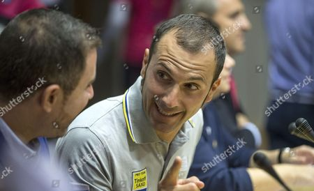 Stock Photo of A Picture Made Available on 02 October 2015 Shows Italian Cyclist Ivan Basso During a Press Conference Held to Present the 10th Cyclotourist Race of Valencia Eastern Spain 01 October 2015 Basso Will Take Part at Valencia's Cyclotourist Race on 04 October After Overcoming a Testicular Cancer That was Diagnosed in an Ordinary Medical Test During the Tour De France 2015 Spain Valencia
