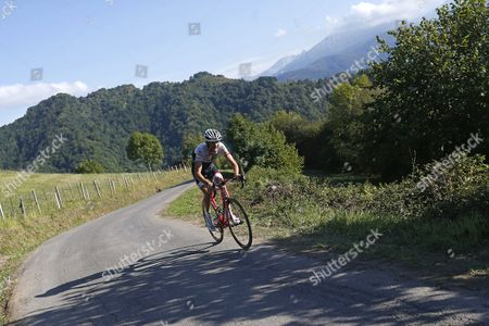 Luxembourg Cyclist of Trek Team Frank Schleck in Action During the Sixteenth Stage of La Vuelta Espana Cycling Race 185 Km Between Luarca and Ermita Del Alba Asturias Northern Spain 07 September 2015 Spain Ermita Del Alba