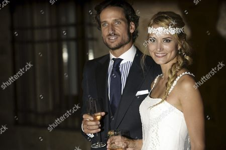 Spanish Tennis Player Feliciano Lopez and Spanish Model Alba Carrillo After Getting Married This Afternoon at the Alcßzar De Toledo in Toledo Central Spain 17 July 2015 Spain Toledo
