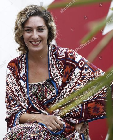 Spanish Flamenco Singer Estrella Morente Smiles After a Press Conference where She Presented Her New Work 'Amor Brujo' (bewitched Love) in Pamplona Spain 29 August 2015 Her Peformance Accompanied by the Prestigious Navarra Symphony Orchestra is Scheduled on 30 August Closing This Year's Flamenco on Fire Festival Spain Pamplona