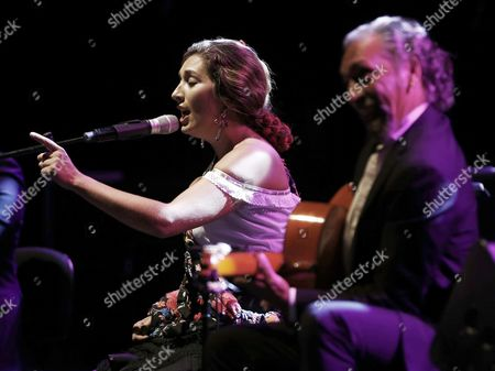 Spanish Flamenco Singer Estrella Morente (l) Performs 'Amor Brujo' (bewitched Love) at the Flamenco on Fire Festival in Pamplona Spain on 30 August 2015 Spain Pamplona