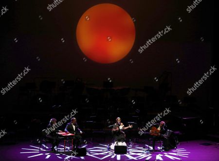 Spanish Flamenco Singer Estrella Morente (c) Performs 'Amor Brujo' (bewitched Love) at the Flamenco on Fire Festival in Pamplona Spain on 30 August 2015 Spain Pamplona