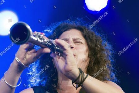 Israeli Jazz Clarinettist Anat Cohen Performs on Stage at 39th Vitoria Jazz Festival in Vitoria Northern Spain 17 July 2015 the Festival Runs From 14 to 18 July Spain Vitoria