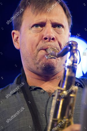 Stock Image of Us Jazz Saxophonist Chris Potter Performs on Stage During the Third Night of the 39th Vitoria Jazz Festival in Vitoria Spain 16 July 2015 the Festival Runs From 14 to 18 July Spain Vitoria
