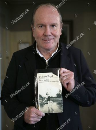 Bristish Writer William Boyd Poses During an Interview Held in Madrid Spain 27 October 2015 Boyd Well-known For the James Bond Literary Saga Presented His Last Novel 'Sweet Caress' Spain Madrid