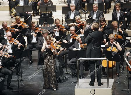 Russian Conductor Vasily Petrenko (c) Directs the Oslo's Philharmonic Orchestra During a Concert at the Kursaal Auditorium in San Sebastian Spain on 30 August 2015 During the 76th Music Fortnight of San Sebastian Spain San Sebastißn