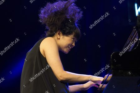 Japanese Pianist Hiromi Uehara Performs on Stage During the Second Night of the 39th Vitoria Jazz Festival in Vitoria Northern Spain 15 July 2015 the Festival Runs From 14 to 18 July Spain Vitoria