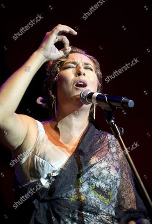 A Picture Made Available on 07 August 2015 Shows Spanish Flamenco Singer Estrella Morente Performing After Delivering a Speech During the Opening of the 55th International Flamenco Festival Cante De Las Minas in La Union Murcia Southeastern Spain Late 06 August 2015 the Festival Runs From 05 to 15 August Spain La Union