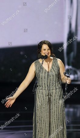 Brazilian Ale Abreu Receives the Award As Best Animated Film For Her Film 'O Menino E O Mundo' (the Boy and the World) During the Platino Iberoamerican Film Awards Ceremony in Marbella Spain 18 July 2015 Spain Marbella(m?laga)