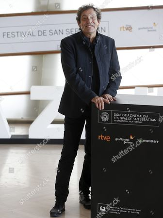 Spanish Director Agusti Villaronga Poses During the Photocall of the Film 'El Rey De La Habana' (the King of Havana) at the 63rd Annual San Sebastian International Film Festival in San Sebastian Northern Spain 23 September 2015 the Festival Runs From 18 to 26 September Spain San Sebastian