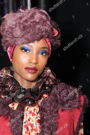 Editorial image of Anna Sui show, Backstage, Fall Winter 2017, New York Fashion Week, USA - 15 Feb 2017
