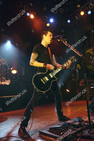 Tyler Connolly of the Canadian Rock Band Theory of a Deadman Performs on Stage at the House of Blues in Chicago Illinois Usa on 19 January 2010 United States Chicago