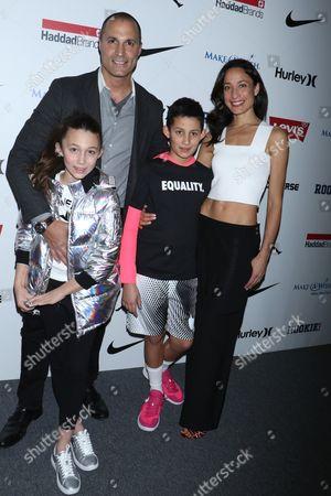 Jasmine Ines Barker, Nigel Barker, Jack Barker and Cristen Chin