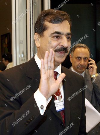 Stock Picture of Pakistan Prime Minister Syed Yousaf Raza Gillani Waves Following a Q&a Session Titled 'Leader in the Spotlight' at the World Economic Forum On the Middle East at the Red Sea Resort of Sharm El Sheikh Egypt 18 May 2008 the Forum Brings Together More Than 1 500 Participants Representing 60 Countries with Its Goal to Improve the State of the World by Engaging Leaders in Partnerships to Shape Global Regional and Industry Agendas