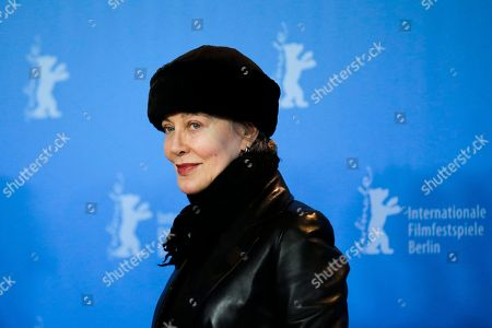 Costume Designer Milena Canonero poses for photographers during a photo call prior to the awarding ceremony with the Honorary Golden Bear, at the 2017 Berlinale Film Festival in Berlin, Germany