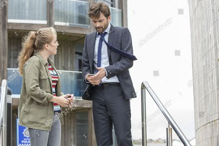 'Broadchurch - Series 3': David Tennant as DI ALEC HARDY and Hannah Rae as Daisy Hardy.